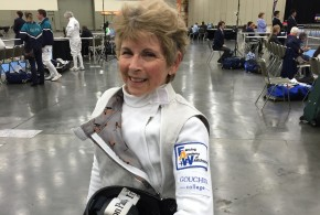 At 77, Veteran Fencer Boots Evans '60 Still Slices Up the Competition