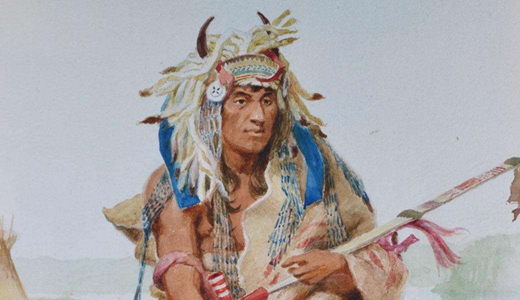 Cha-Tan-Wah-Koo-Wah-Mannee (The Hawk that Chases Walking)
