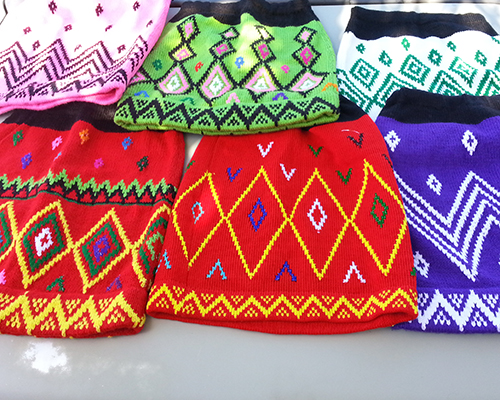 Kachin knitted skirts