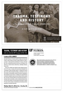 Trauma and Testimony postcard