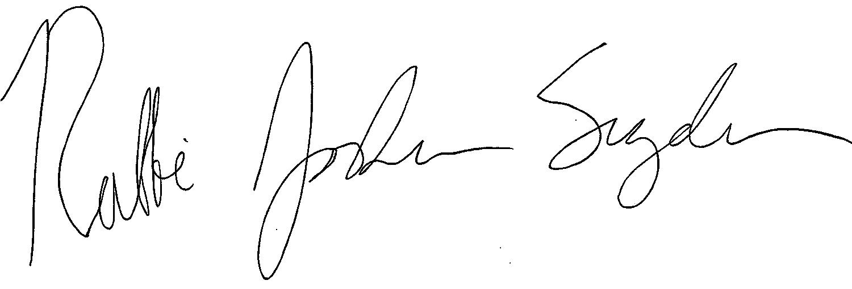 Rabbi Josh Snyder Signature