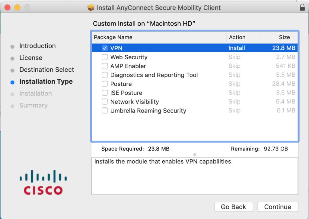 VPN Install Options