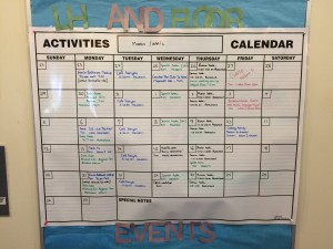 hallway calendar march april 2015