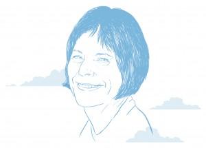 Drawing of Kathryn Goldman Schuyler