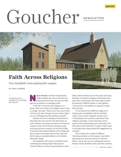Goucher Newsletter April 2017