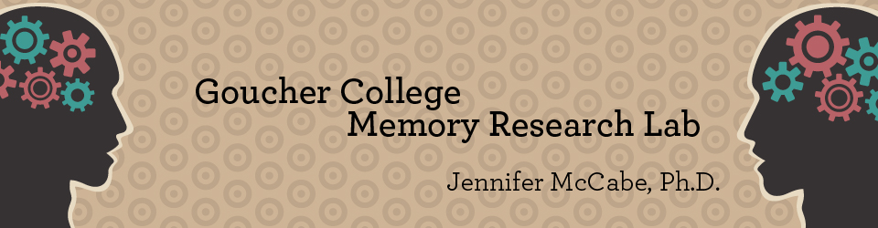 Goucher College Memory Research Lab - Jennifer McCabe, Ph.D.